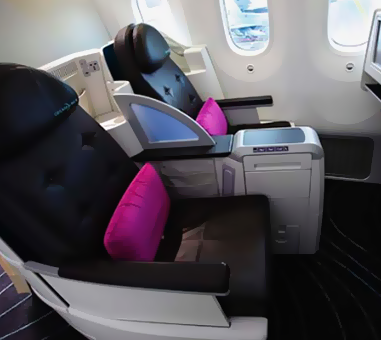 Business class flight